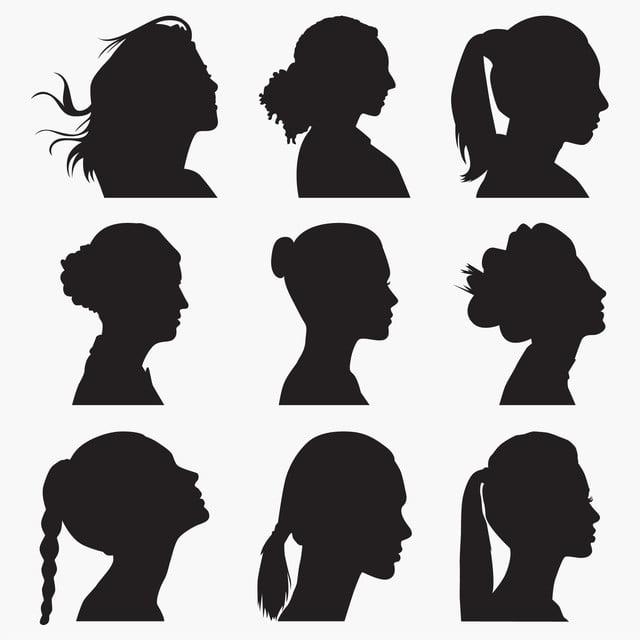 Gambar Wanita Menghadapi Siluet Clipart Orang Abstrak Cantik Png Dan Vektor Dengan Latar Belakang Transparan Untuk Unduh Gratis
