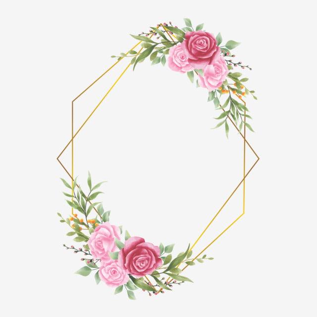 Wedding Invitation Frame Background Flower Frame Png And