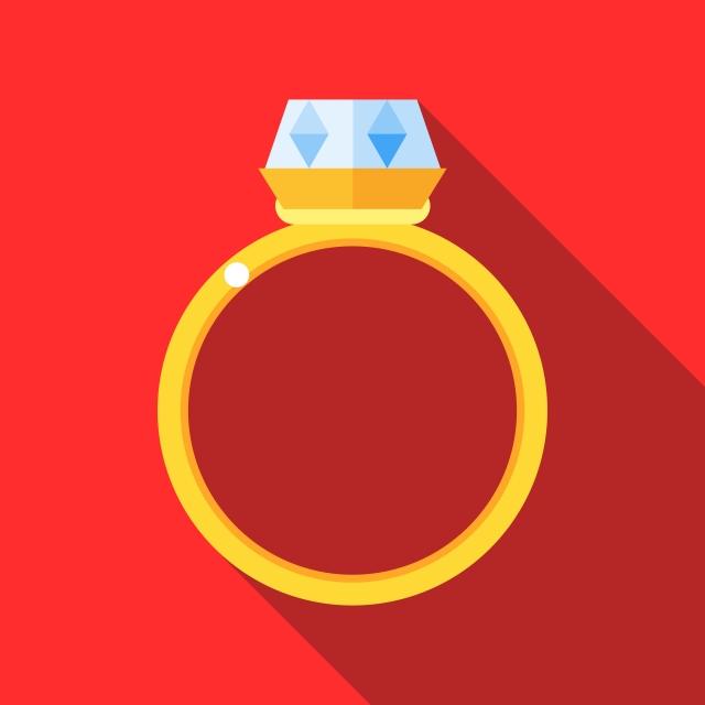 Women Wedding Ring Icon Flat Style Womens Wedding Ring