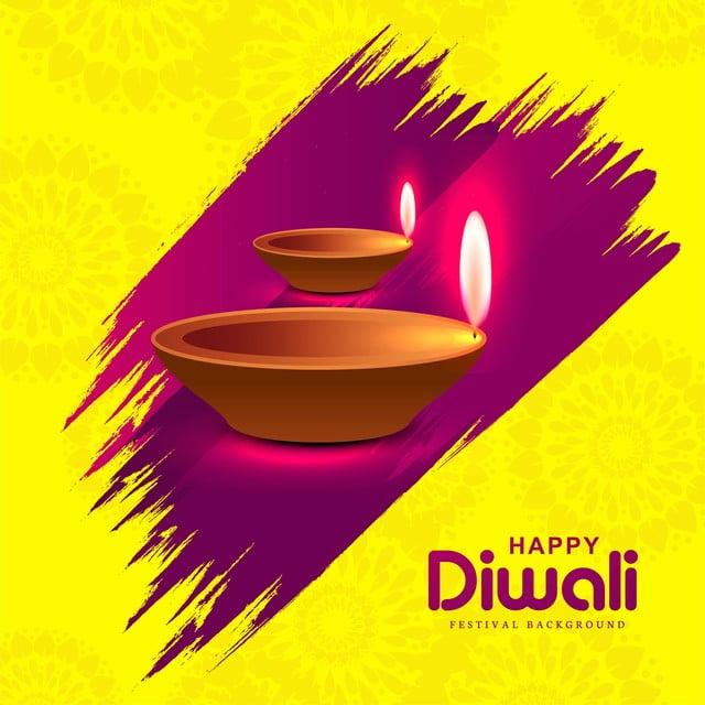 Fond Colore Brillant Avec Des Lampes A Huile Illuminees Pour Le Festival De Diwali Resume Lumiere Diwali Png Et Vecteur Pour Telechargement Gratuit