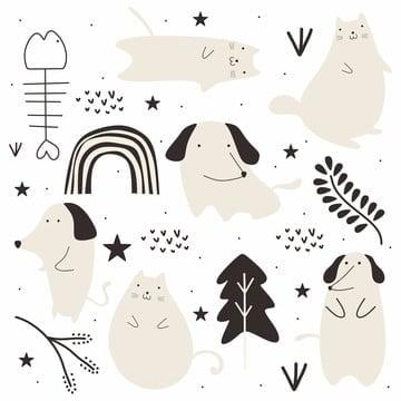 Cachorro Desenho Png Images Vetores E Arquivos Psd Download