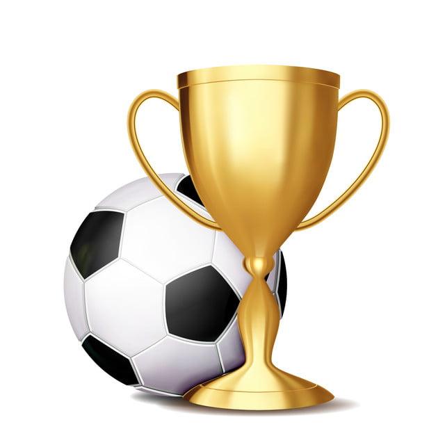Soccer Award Vector Football Ball Golden Cup For Sport