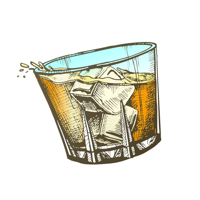 Ice Cubes Vector Glass Whisky, Glass Ice Cubes Vector