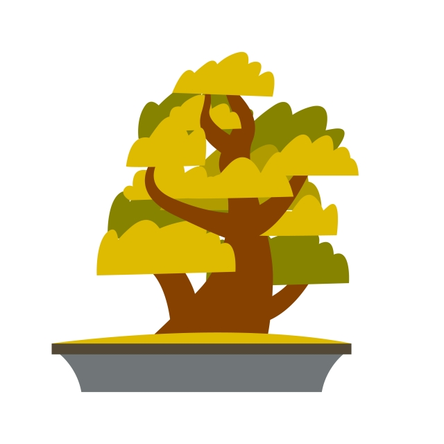 Bonsai Japanese Cartoon Vector Tree Growing In Pot Trunk Bonsai Japanese Png And Vector With Transparent Background For Free Download Format3dsmax 2015 + fbx :: pngtree