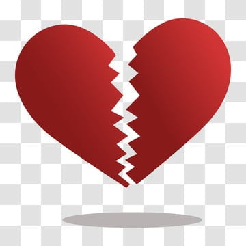 pngtree broken heart symbol with shadow png image 1821417
