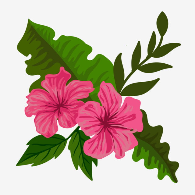 Flor Tropical Flor Em Ilustração Vetorial Aloha Artística