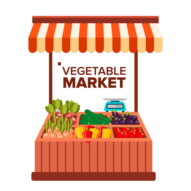Vegetable Market Vector Natural Eco Healthy Product