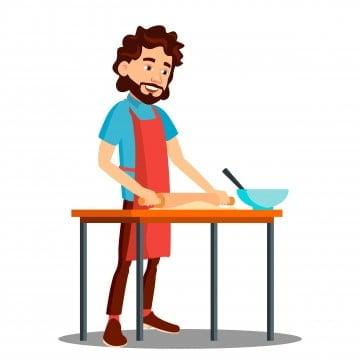 Chef Cook Man Cartoon Vector Clipart Stock Vector - Illustration of print,  vector: 41776282