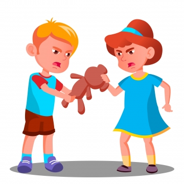 Free Download | Two Children Grab Toys PNG Images ...