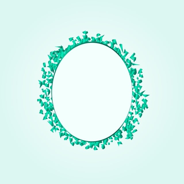 bingkai confetti bulat hijau yang elegan pesta pola dekoratif bingkai hijau png dan vektor dengan latar belakang transparan untuk unduh gratis bingkai confetti bulat hijau yang