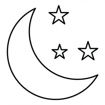 Mond Clipart Schwarz Weiß