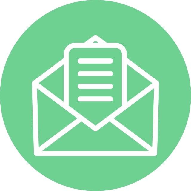 Icone De Courrier Isole Sur Fond Abstrait Clipart De Courrier Icones De Messagerie Icones De Fond Png Et Vecteur Pour Telechargement Gratuit