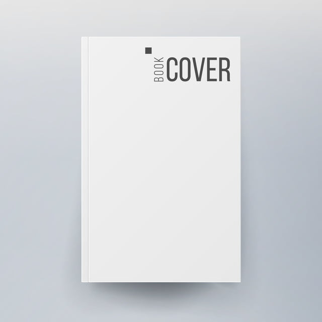 Blank Cover Book Vector Realistic Illustration Isolated