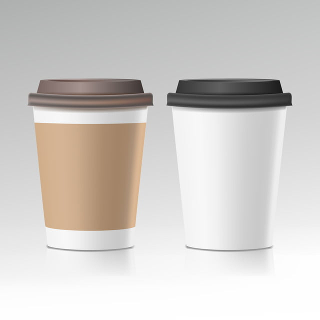 Coffee Take Away Illustration:  Coffee Cup Vector Take Away Cafe Coffee Cup Mockup