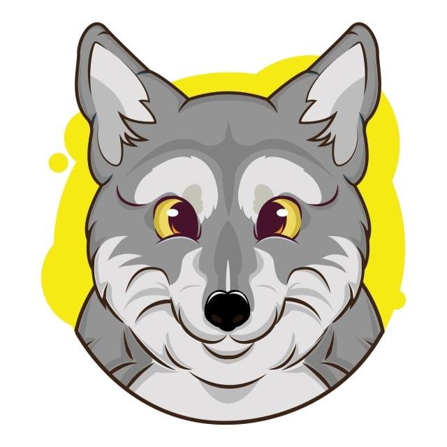 Gambar Avatar Serigala Lucu Dengan Latar Belakang Kuning Avatar Pasar Web Png Dan Vektor Dengan Latar Belakang Transparan Untuk Unduh Gratis