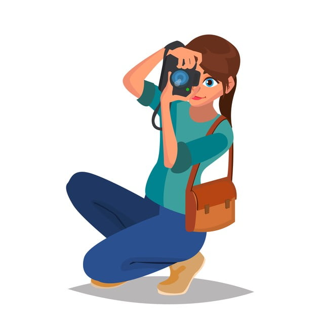 Photographer Woman Vector Photo Equipment Camera Studio Photography Isolated Flat Cartoon Character Illustration Photo Clipart Traveler Professional Png And Vector With Transparent Background For Free Download