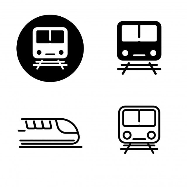 Train Icon With Simple Black And White Design Train Sign Train Symbol Travel Subway Transport Png And Vector With Transparent Background For Free Download