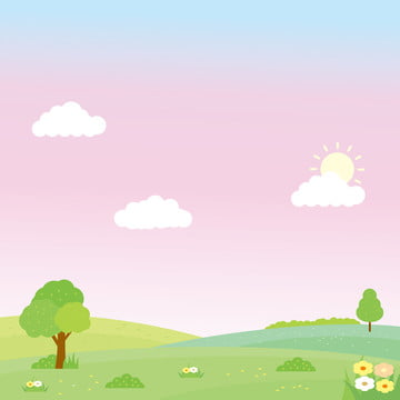 Nature Landscape Background With Funny Design Suitable For Kids