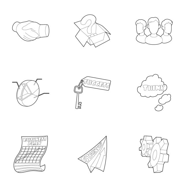 Company Icons Set Outline Style Company Icons Style Icons Outline Icons Png And Vector With Transparent Background For Free Download