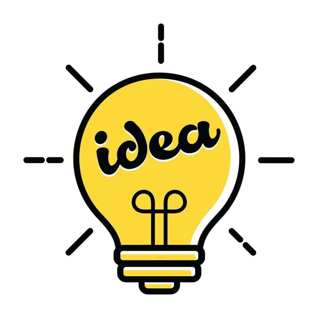 Icone Idée Ampoule Logo Nouvelle Idée Symbole Et Icône De Vecteur De Dessin