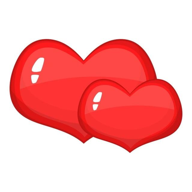 Biểu Tượng Hai Trái Tim Màu đỏ Phong Cách Hoạt Hình, 2., Màu đỏ ...