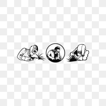 вдохновение сварщик сваривает металл черно белые иллюстрации сварщика в рабочей одежде линейного искусства силуэт сварщика, рабочие значки, художественные иконки, черные значки PNG ресурс рисунок и векторное изображение