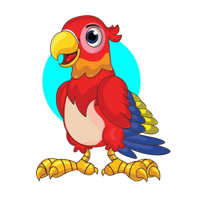 Kartun Burung Beo Lucu Parrot Clipart Satwa Ikon Png Dan Vektor Dengan Latar Belakang Transparan Untuk Unduh Gratis