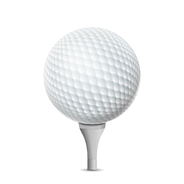 Golf Ball On White Tee Vector Realistic Illustration Isolated Golf Ball Grass Png And Vector With Transparent Background For Free Download