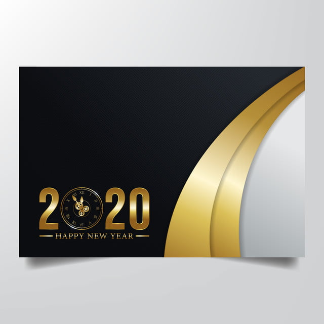 Happy New Year 2020 Greeting Card Background Vector ...