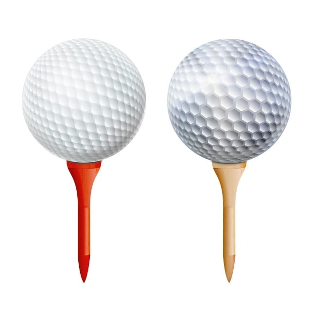 Realistic Golf Ball On Tee Vector Isolated Illustration Golf Ball Tee Png And Vector With Transparent Background For Free Download