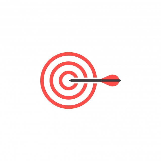 Target Graphic Design Template Vector Isolated Dart