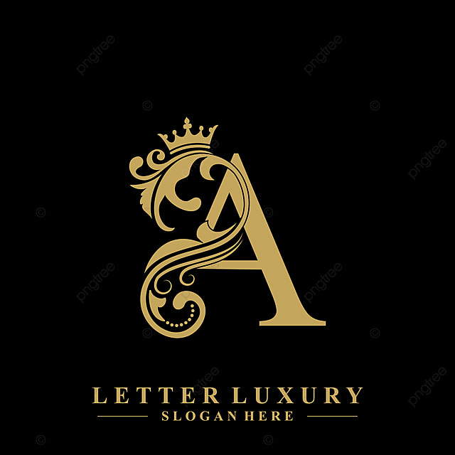 Initial Letter A Luxury Beauty Flourishes Ornament With