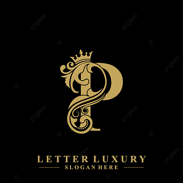 Vintage And Luxury Logo Template: Initial Letter P Luxury Beauty Flourishes Ornament With