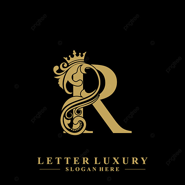 Initial Letter R Luxury Beauty Flourishes Ornament With