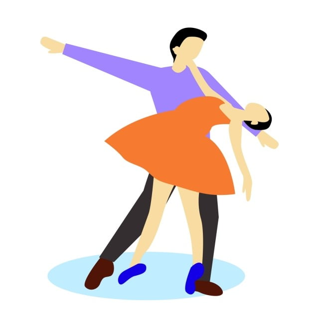 Danseurs Couple Un Homme Dans Différentes Poses Dessins