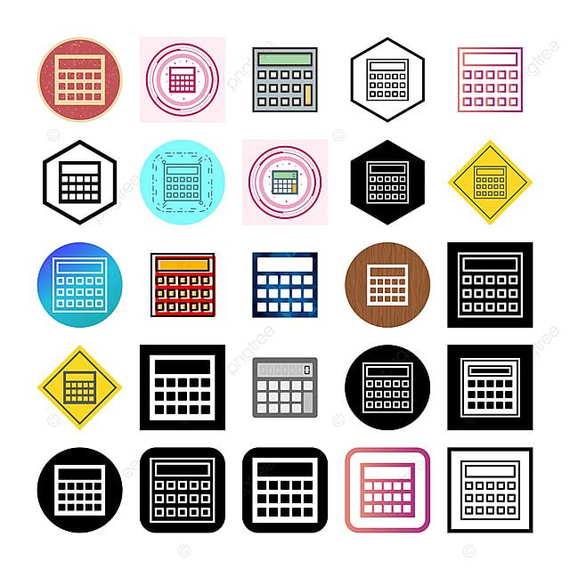 25 Icônes De Calcul Isolés Sur Fond Blanc, Calculatrice Icône, Calcul,  Calculer PNG et vecteur pour téléchargement gratuit