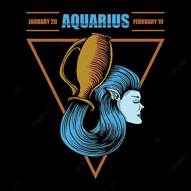 Gambar Ilustrasi Vektor Zodiak Aquarius Dewasa Aquarius Seni Png Dan Vektor Dengan Latar Belakang Transparan Untuk Unduh Gratis