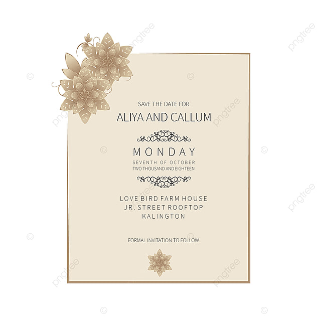 Classical Floral Save The Date And Wedding Beautiful
