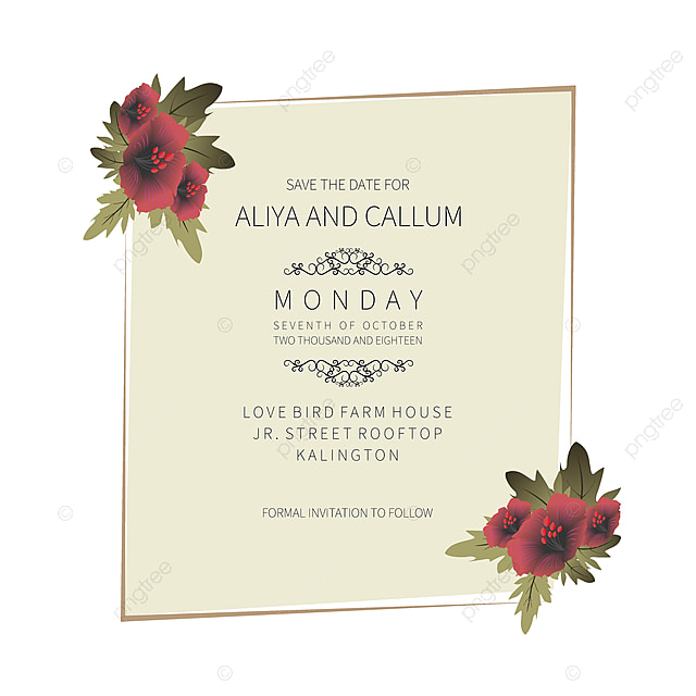 Floral Save The Date And Wedding Beautiful Invitation Card