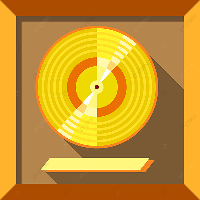 Ikon Piringan Hitam Rekam Musik Gaya Datar Emas Rekam Musik Png Dan Vektor Dengan Latar Belakang Transparan Untuk Unduh Gratis