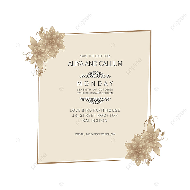 Hand Drawn Beautiful Floral Save The Date And Wedding