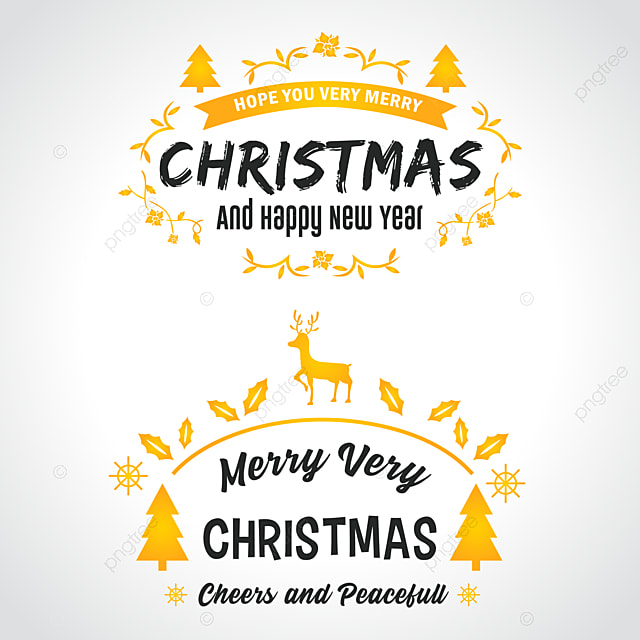Elegant Christmas Banner And Happy New Year Text Decoration