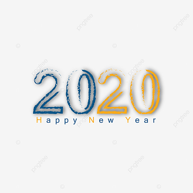 Happy New Year 2020 Banner Png
