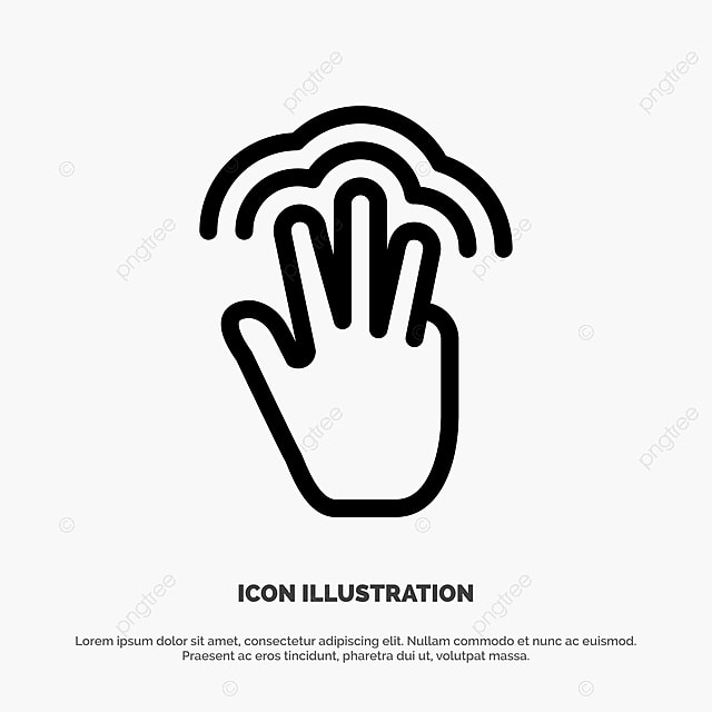 Fingers Gestures Hand Interface Multiple Touch Line Icon Vec Hand Icons Line Icons Touch Icons Png And Vector With Transparent Background For Free Download Download other sizes of this icon: pngtree