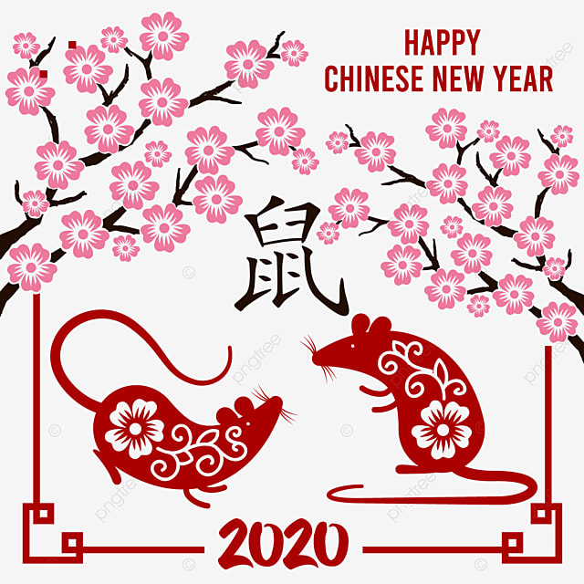 Happy Chinese New Year Golden Rat 2020 Imlek Png And
