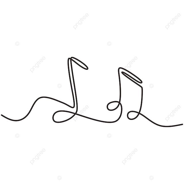 Desenho De Uma Linha De Notas Musicais Isolado Vetor Objeto
