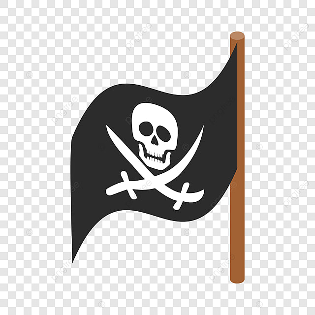 Logo Mockup Black Flag Sign: Pirate Flag Isometric Icon, Pirate, Flag , Icon PNG And