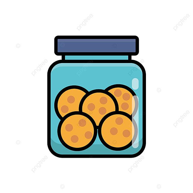 cookie dalam ilustrasi vektor jar diisolasi pada latar belakang cookie clip art latar putih kue toples vektor png dan vektor dengan latar belakang transparan untuk unduh gratis kue toples vektor png