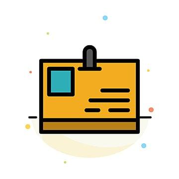 บัตรประจำตัวประชาชนบัตรประจำตัวประชาชนผ่านนามธรรมไอคอนสีแบนแม่แบบ, เข้าถึง, ป้ายชื่อ, ว่างเปล่า รูปภาพวัสดุPNG และ เวกเตอร์