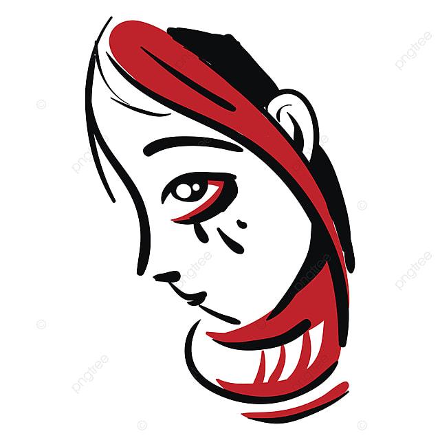 Gambar Mewarnai Ilustrasi Vektor Gadis Merah Kepala Pada Latar Belakang Putih Menangis Sedih Gadis Png Dan Vektor Untuk Muat Turun Percuma